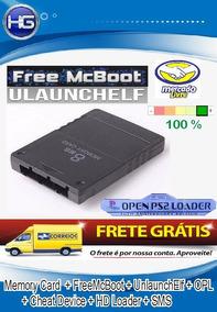 Memory Card 16mb Com Opl 1558 + Freemcboot Frete Grátis!