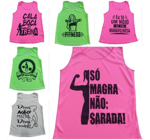 Kit 10 Regatas Fitness Feminina Atacado
