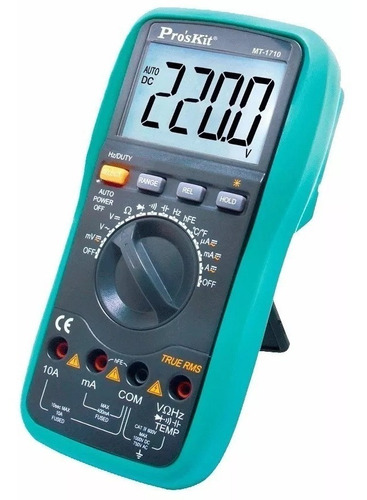 Tester Multimetro Digital Profesional Proskit Rms Mt-1710