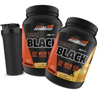 2x Protein Black Original - 26g Proteína - 840g - New Millen