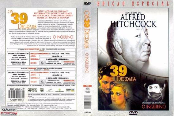 Dvd Ed. Especial Alfred Hitchcock Os 39 Degraus E O Inquilin