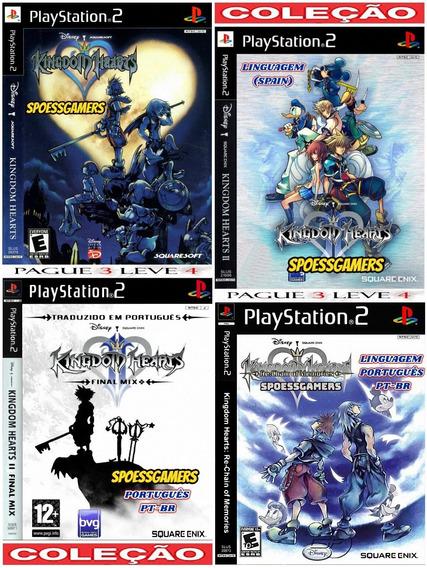 Kingdom Hearts Collection (4 Jogos) Ps2 Desbloqueado Patch