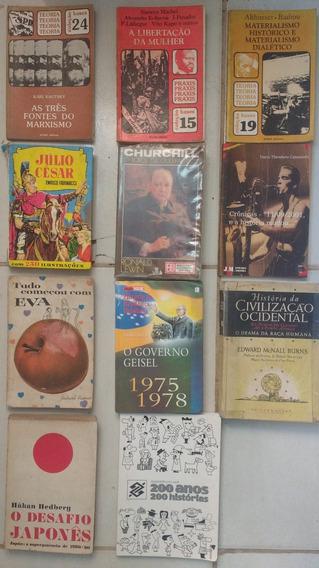 Lote 11 Livros História E Filosofia Usados-frete Grátis