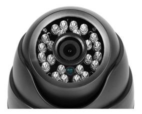 Câmera De Segurança Dome Analógica 24leds 3,6mm Com Infra Vm