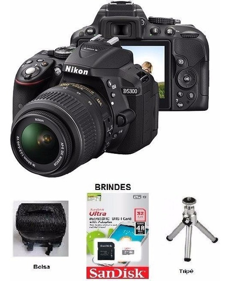 Câmera Nikon D5300 Lente 18-55 +32gb Class 10 +capa + Tripe