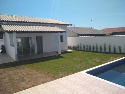 Linda Casa Terrea Com Piscina 2 Dorm - Ref- 129