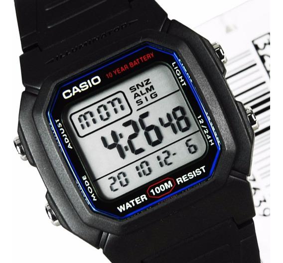 Relogio Casio W-800h Retrô-vintage Alarm Crono Wr100m W800h