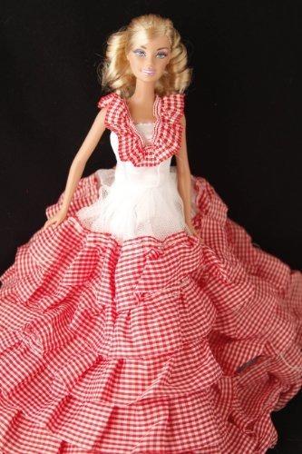 Compre Por Bella Tela Escocesa Roja Del Volante De Barbie De