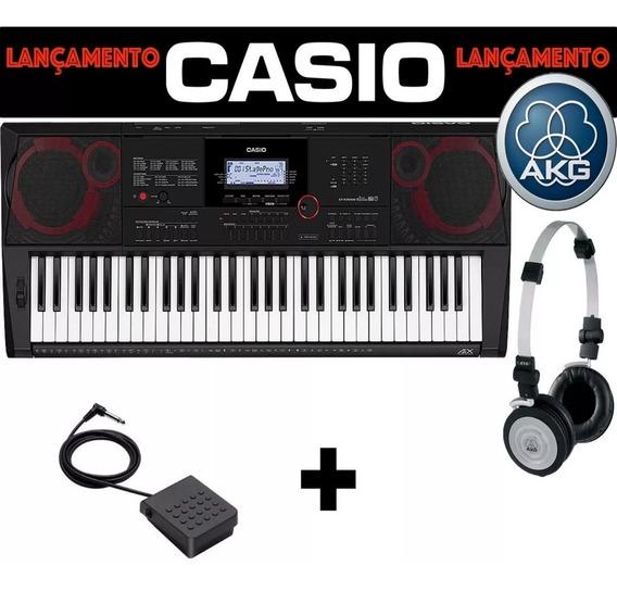 Teclado Sintetizador Casio Ct-x3000 Com Fone Akg 414p