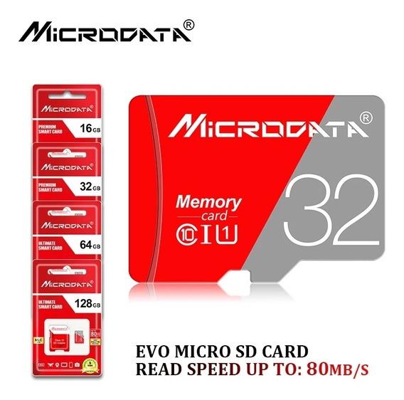 08 Cartão De Memória 32g Microdata Original + Adaptador
