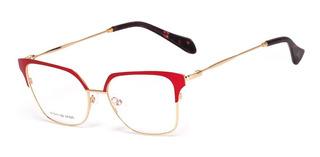 Armação Oculos Ogrife Og 724-c Feminino Com Lente Sem Grau