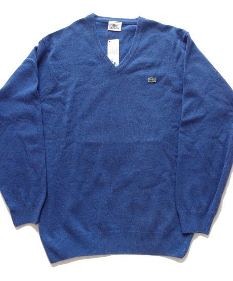Suéter Masculino Lacoste Original E Importado Tamanho G Azul