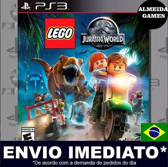 Lego Jurassic World Ps3 Mídia Digital Psn Envio Imediato