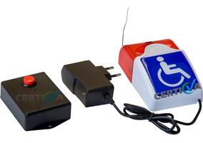 Alarme Audiovisual Pne / Pcd - Emergência Nbr 9050 Sem Fio