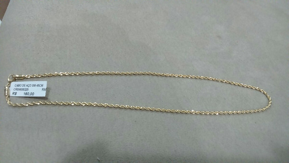 Semi-joia Gargantilha 45cm Folheada A Ouro