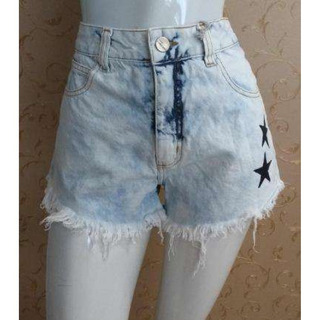 Shorts Jeans Hot Pant Com Estrelas Lady Rock 9324 - Jeans Cl