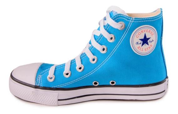 Tênis Converse All Star Ct Cano Alto Azul Turquesa Infantil