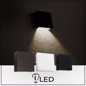 Arandela Led Externa Aluminio 1 Foco Slim Ar7 Com Lampada 7w