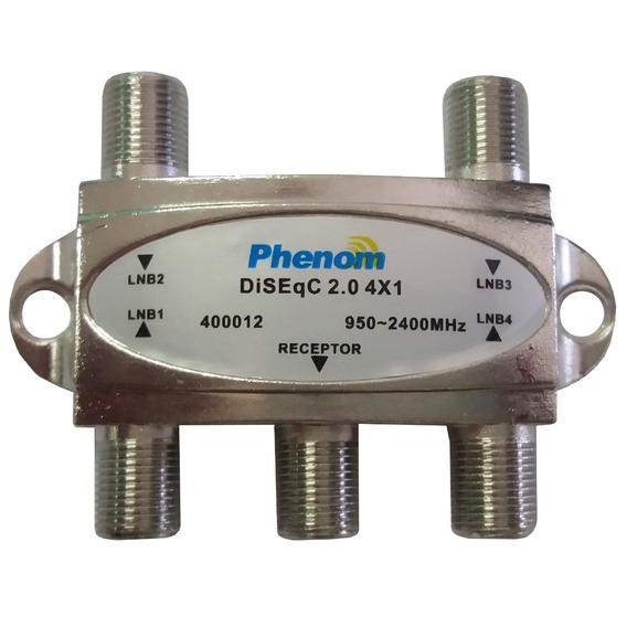 Chave Diseqc 4x1 2.0 Phenom - Super Oferta