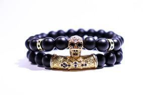 4f23998909e0 Pulsera Brazalete Calavera Dorada (set Golden Skull)