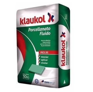 Pegamento P/ Porcellanato Klaukol Fluido Impermeable X 30kg