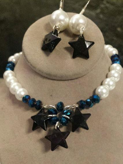 Collar Y Aretes Estrellas Set Moda Cosplay Kawaii