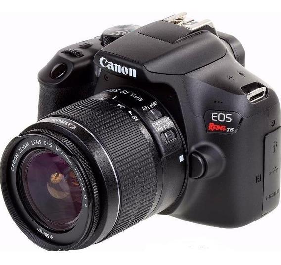 Câmera Canon Eos Rebel T6 Lente Kit Ef-s 18-55mm Is Ii Wifi