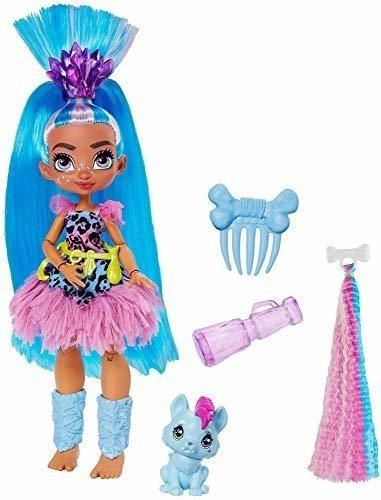 Imagen 1 de 7 de Mattel Cave Club Tella Doll (8-10 Pulgadas, Cabello Azul) M.