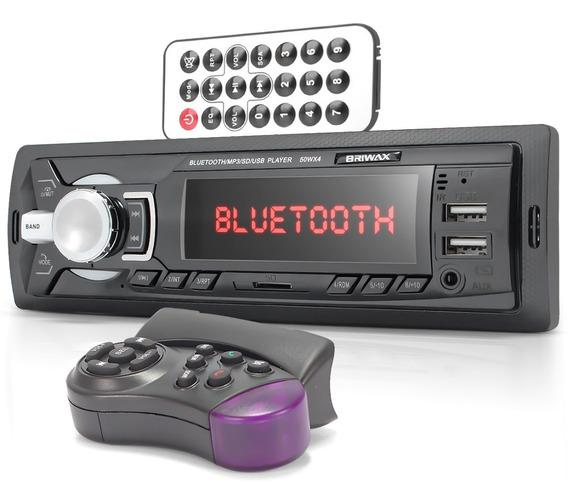Auto Radio Automotivo Bluetooth Som Carro Mp3 Player Usb Sd