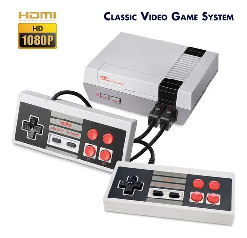 Consola De 8 Bits Retro Nes Hdmi Plug Play Con 500 Juegos