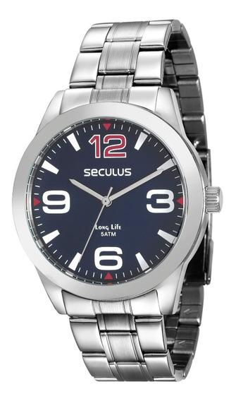 Relógio Seculus Masculino 2 Anos Garantia 28858g0svna1