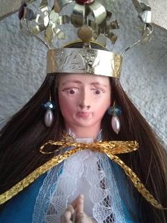 Virgen De San Juan. Diadema Con Aretes.