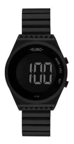Relógio Euro Feminino Ref: Eubjt016ad/4p Digital Preto Fosco