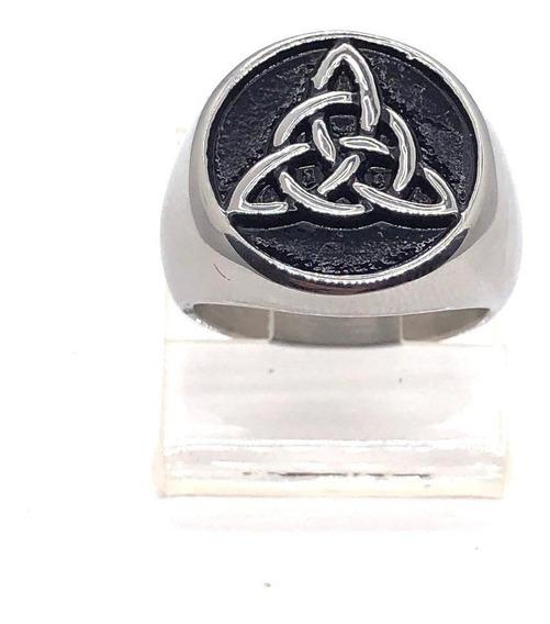 Anel Triskle Triskele Espiral Triplo Círculo Nó Celta Stlr 3