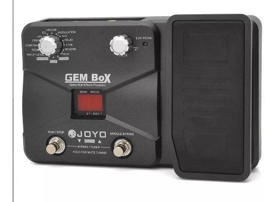 Pedaleira Joyo Gem Box P/ Guitarra- Efeitos E Distorções Wah
