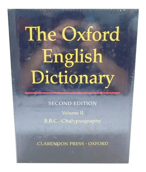 Livro The Oxford English Dictionary 2nd Vol. 2 Em Inglês