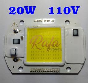 Super Power Led Cob 20w 110v Ac Branco Frio 6500k 1 Unidade