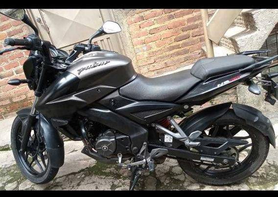 Moto Pulsar Ns 160 2018 Negra Con Tanque Gris Mercado Libre