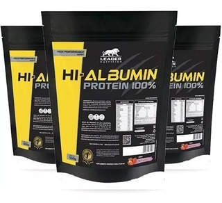 3x Hi Albumin Protein 100% Pure 500g - Leader Nutrition