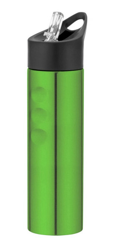 Imagen 1 de 2 de Botella Deportiva 750ml Acero Inoxidable Verde