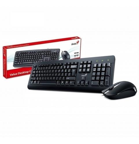 Imagen 1 de 2 de Combo Mouse+ Teclado Genius Km-160 Usb Oficina Silencioso