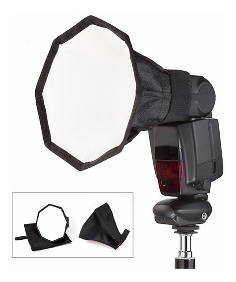 Mini Difusor Softbox Octagonal Flash 20cm Dobrável + Bolsa