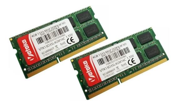 Memória Veteke 8 Gb 1333 2x4 Gb Mhz Ddr3l Apple Acer Hp Dell