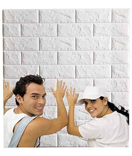 Papel De  Empapelado Adhesivo De Pared De Ladrillos Blancos