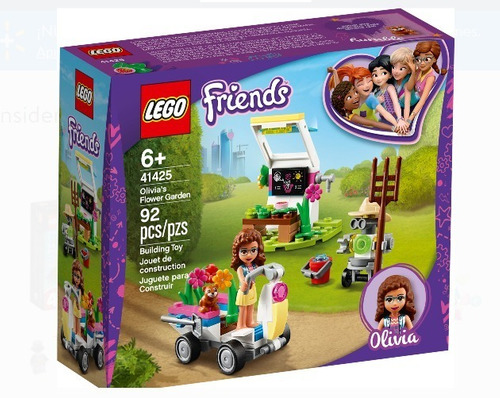 Lego Friends Olivia's Flower Garden 92 Pzs Mod 41425 Orginal