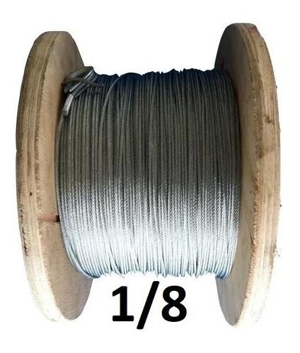 Imagen 1 de 3 de Cable De Acero Galvanizado 7x7 1/8  Con 150 Mts Obi