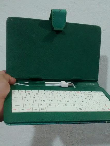 Mini Teclado P/ Tablet 7 Polegadas Cabo Usb E V8 Capa Joven