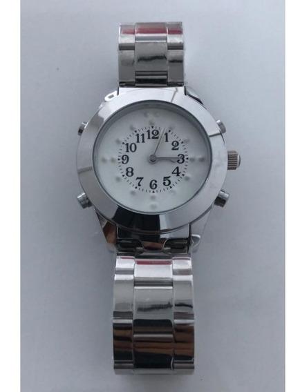 Relógio Masculino Braille Falante Prata