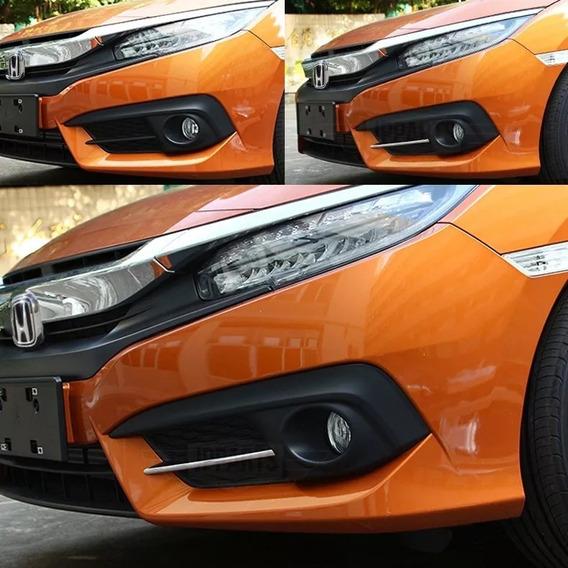 Acessórios Honda Civic G10 17 18 19 Moldura Dianteira Cromad