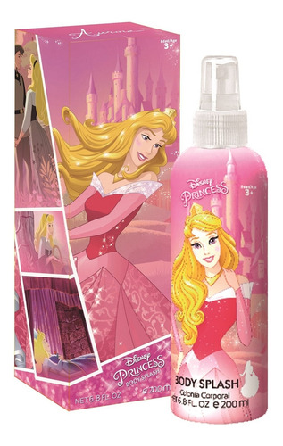 Perfume Infantil Disney Princesa Aurora Body Splash 200ml